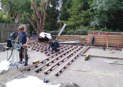 Waregem houten terras
