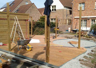 Waregem terras en tuinhuis (2)
